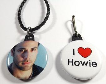 "Howie Dorough 1.25"" Button Necklace & Zipper Pull Set"