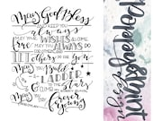 Hand-Lettered Quote - Forever Young Bob Dylan