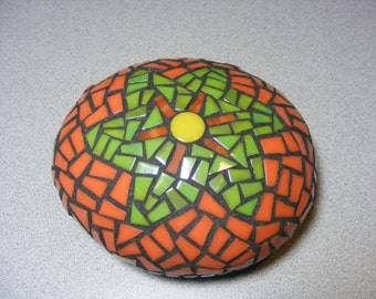 Garden Mosaic Rock Art