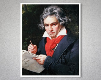 Ludwig Van Beethoven Vintage  Poster by Joseph Karl Stieler, 1820 - Poster Print, Sticker or Canvas Print / Gift Idea