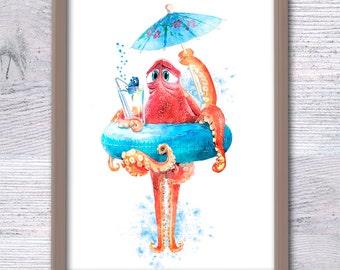 Dory Finding Nemo, Hank and Dory Poster, Funny nursery print, Dory, Nemo, baby room décor, Kids gift, Dory, Summer décor, Friend gift, V78