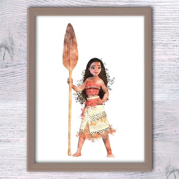 Moana with spear picture
