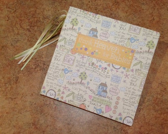 Adorable Baby 7x7 Scrapbook, Handmade Album, New Baby