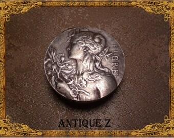 Rare!!! 19th century Art Nouveau pill/snuff box, copper/brass/bronze, Victorian, antique