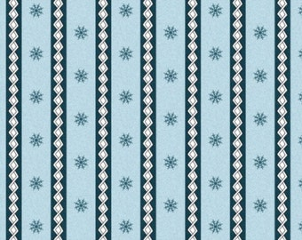 Frolic in the Snow Cotton Flannel by Kris Lammers for Maywood Studios MASF8707-BYard YARD Cut