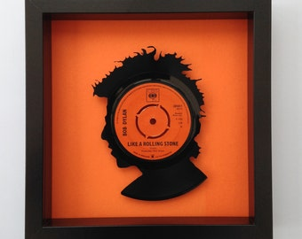 Bob Dylan 'Like a Rolling Stone' Silhouette Vinyl Record Art