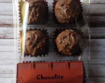 6 x Gin & Damson Milk Chocolate Truffle - Treat Pack-