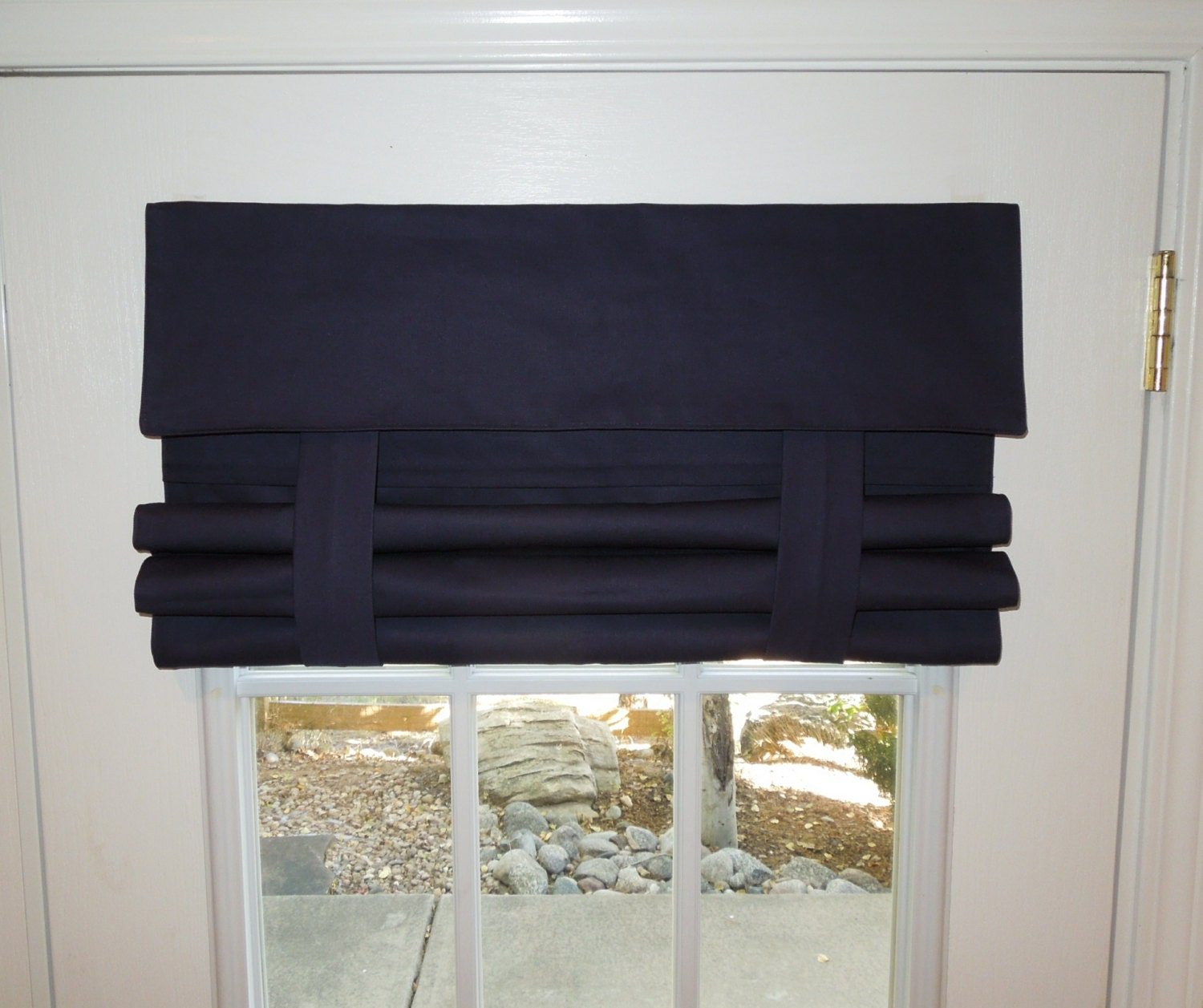 Navy Blue French Door Curtain