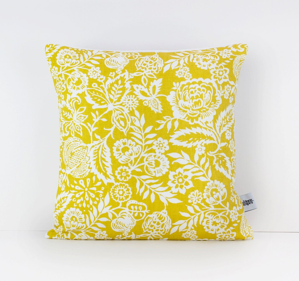 Mustard cushion mustard yellow decor mustard pillow - Decorating with mustard yellow ...