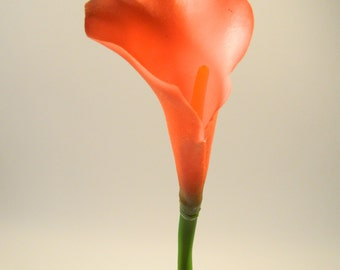 "Real Touch Calla Lily in Red - 32"" Tall"