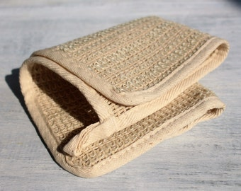 Exfoliating Sisal Wash Cloth, Natural Fiber Washcloth, Large 10x10