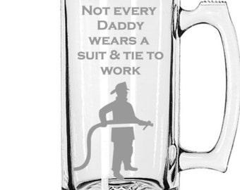 Fireman Fathers Day Gift, Mug, Beer Mug, Gifts for dad, Father's day gift