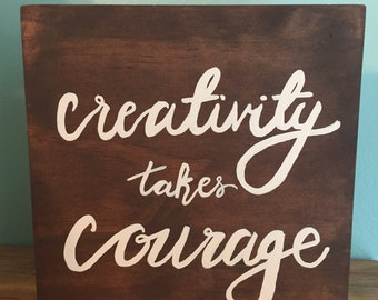 Creativity takes Courage block