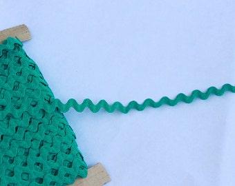 1 yard or more Teal Ric Rac trim - Teal trim - Teal Ric Rac sewing notion