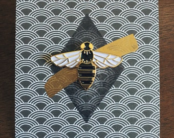 Bee enamel pin by VGRTN