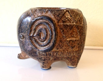 Adorable Mid Century Modernist Elephant Candle Holder RIES Mid Century Japan