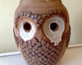 Hoot! Hoot! Vintage Mid Century Modern Ceramic Owl Vase