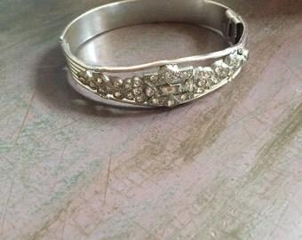 1920's Art Deco Allco Wedding Bracelet