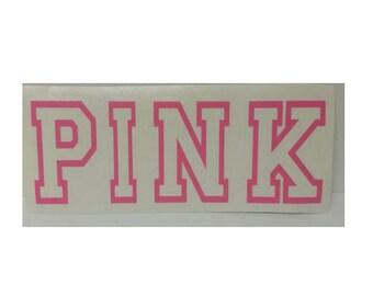 Pink Vinyl Decal Sticker
