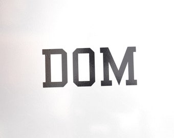 Window Decal, Dom, ST-035a