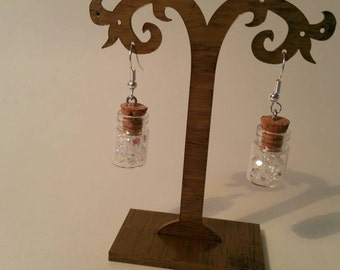 Bottled swarovski drop earrings