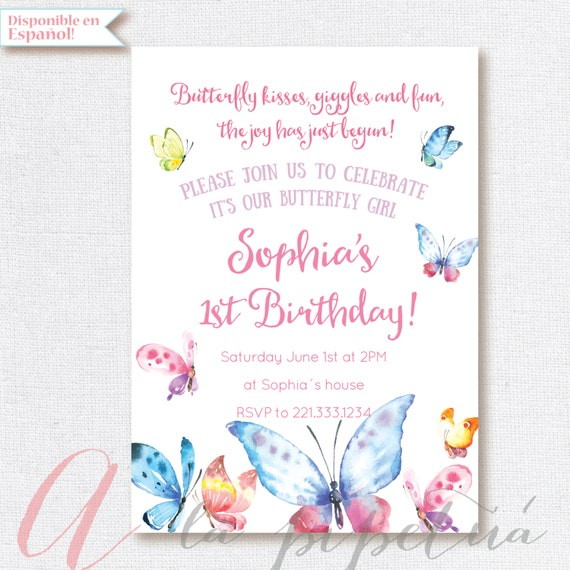 Butterfly Invitation Birthday Party Butterflies party