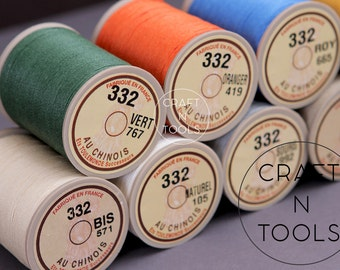 """Sajou Fil au Chinois """"Lin Cable"""" Waxed Linen Thread #332 (0.77mm) in 31 colors/Saddlery Thread/Corded Thread/Linen Cable/Thread for Leather"""