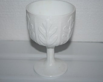Vintage FTD Milk Glass Compote Planter