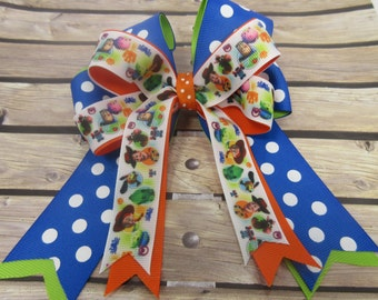 Toy Story Stacked Tails Down Hair Bow, Cheer Bow