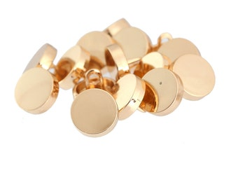 15 x Luxury Dress Shirt Buttons, 10mm, Available in Rose Gold or Gun Metal. Item Code: CB-15MB-FlatR