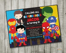 Super hero invitation - birthday Invitation - SUPERHERO Invitation, Superhero Invite, Boys girls super hero invitation, Superhero invitation