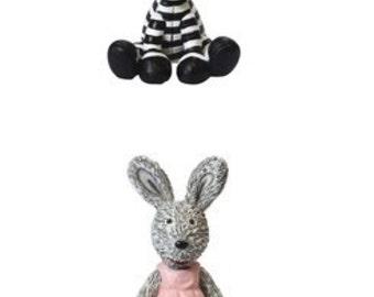 Cute Zebra & Bunny Cake Toppers