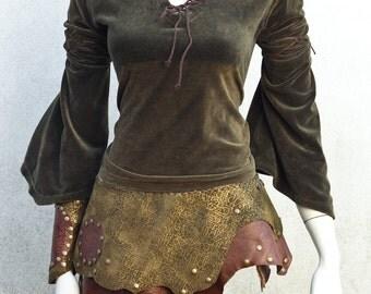 Aenwyn Forest Elf Leather Skirt