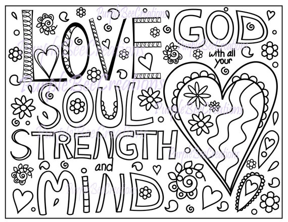 love bible verses coloring pages - photo#27