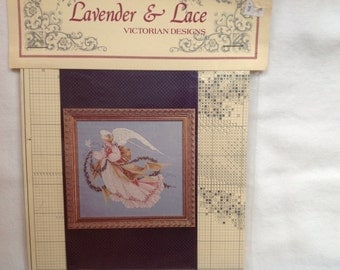 "Lavender and Lace's ""Angel of Summer""counted cross stitch directions"