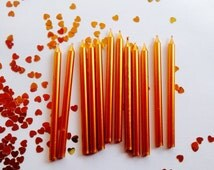 12 tall gold birthday candles party candles birthday candles cake decorations party supplies london sparkle uk shop