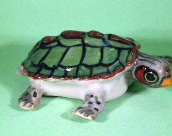 Turtle - handpainted porcelain figurine  - 2687