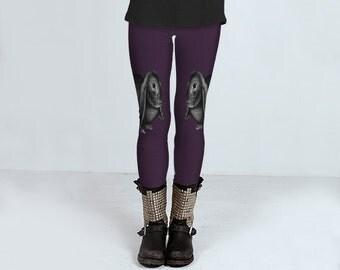 Little Bunny Foo Foo  Leggings    Wearable Art- Women-Teens- Pants -Clothing- Hand Sewn  XS S M L XL