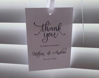 30 x Wedding Thank You Tags