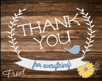PRINTABLE Rustic Baby Shower Thank You Cards [BOY]