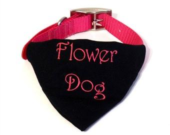 Wedding Dog Collar Bandana - Custom Dog Bandana - Dog In Wedding - Flower Girl Bandana - Dog Flower Girl - Flower Dog Wedding - Photo Prop