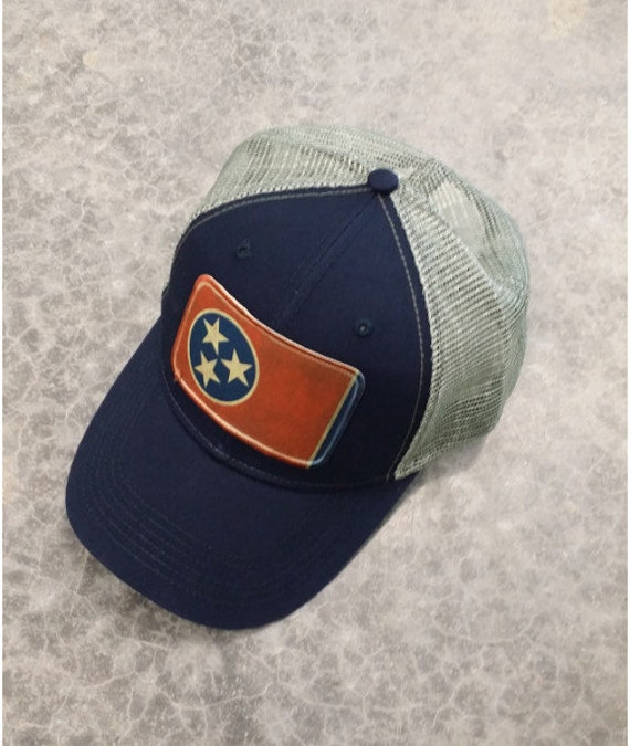 tennessee flag baseball trucker mesh cap hat by