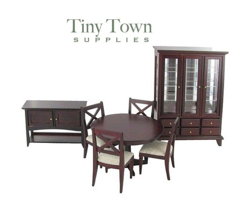 miniature dining room set formal dining room set dollhouse