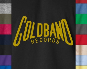 GOLDBAND RECORDS Soft Ringspun Cotton T-Shirt Cajun R&B Jazz Blues USA Label Tee