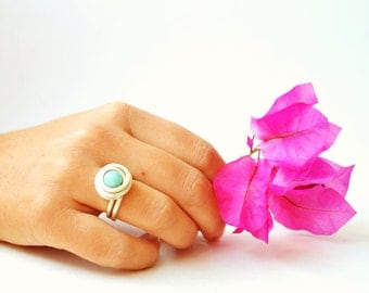 Ring Amazonite, Blue Green Ring, Ring Wire Wrap, Gemstone Ring, Wire Wrap Amazonite, Wire Wrap Ring Amazonite, Ring Bohemia Jewelry Gemstone