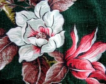 Pristine VINTAGE BARKCLOTH fabric 8 super uncut yards