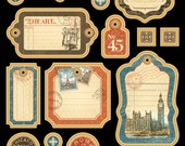 Graphic 45 Cityscapes Journaling Chipboard 1, SC007616