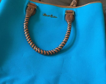 Beautiful Turquoise Vintage Tote Bag