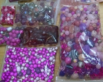 Hundreds of Pink Beads!!