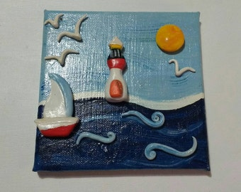 Seascape with ceramic applications